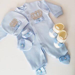 bebek tulumlari 2 300x300 - Taş Süslemeli Yenidoğan Patikli Hastane Çıkış Seti 0-1 Ay