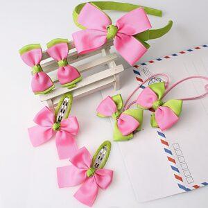 1396331856 555167029 300x300 - Fiyonk Süslemeli Kız Çocuk Toka Set Pembe - Yeşil