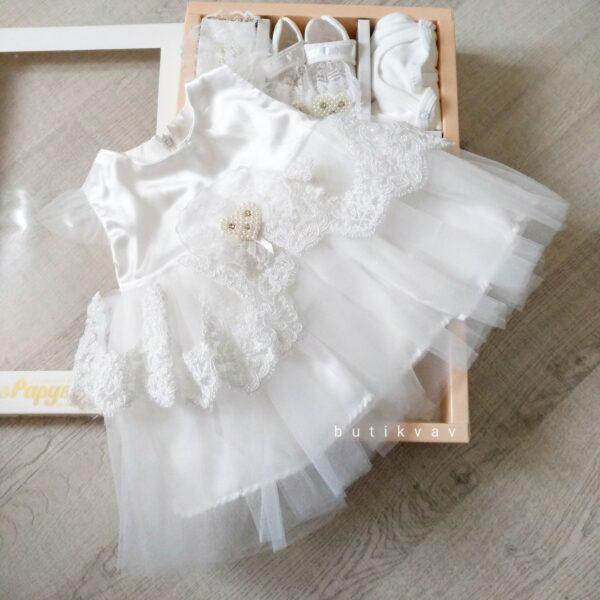 İncili prenses elbise 5li mevlit seti 0 6 ay 01 600x600 - İncili prenses elbise 5'li mevlit seti 0-6 ay