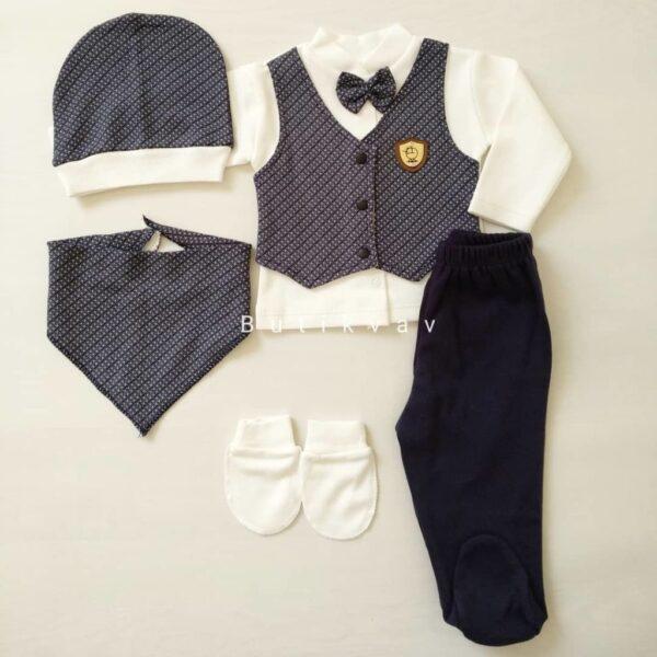 Erkek Bebek 5li Hastane Çıkışı 0 3 Ay Kopya 01 600x600 - Erkek Bebek Yelekli 5'li Hastane Çıkışı 0-3 Ay