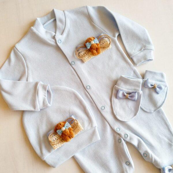 Erkek Bebek Kral Taç Süslemeli Hastane Çıkışı 1 3 ay 04 600x600 - Sevimli Ayıcık Süslemeli Yenidoğan Hastane Çıkışı 1-3 Ay