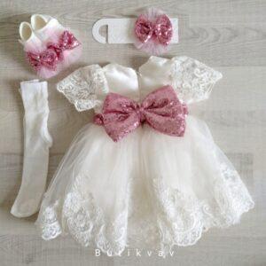 Kız Bebek Dev Fiyonklu Mevlüt Elbisesi Bebek Gelinlik 0 3 ay 01 300x300 - Anasayfa