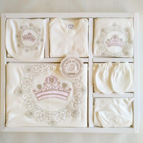 Kız Bebek Prenses Taç Süslemeli 10lu Hastane Çıkışı 01 600x600 - Kız Bebek Prenses Taç Süslemeli 10'lu Hastane Çıkışı