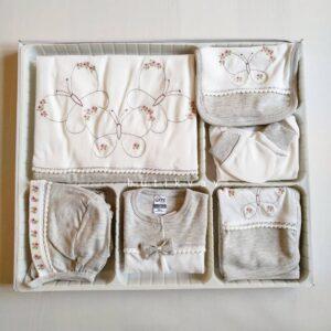 Kız Bebek Prenses Taç Süslemeli 10lu Hastane Çıkışı Kopya 01 300x300 - Gaye Bebe Kız Bebek Kelebek Süslemeli 10'lu Hastane Çıkışı