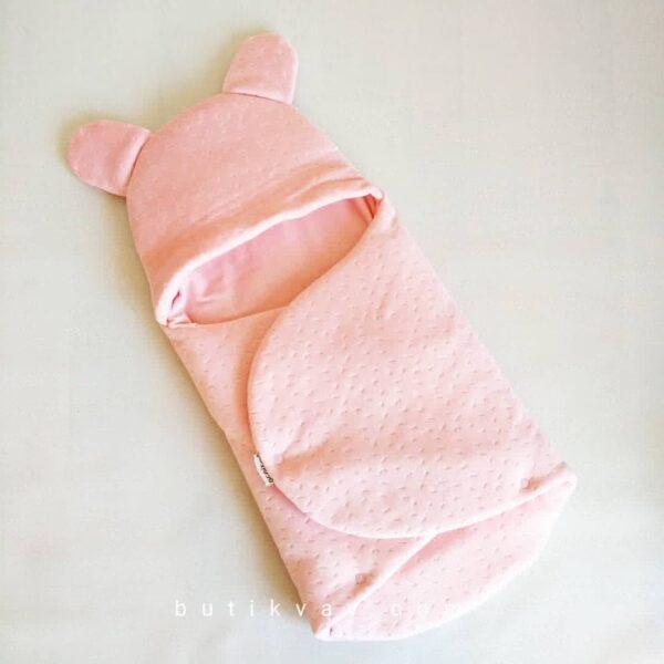 Kız Bebek Kışlık Peluş Kundak 0 6 ay 01 600x600 - Kız Bebek Çıtçıtlı Fluffy Kundak 0-6 ay