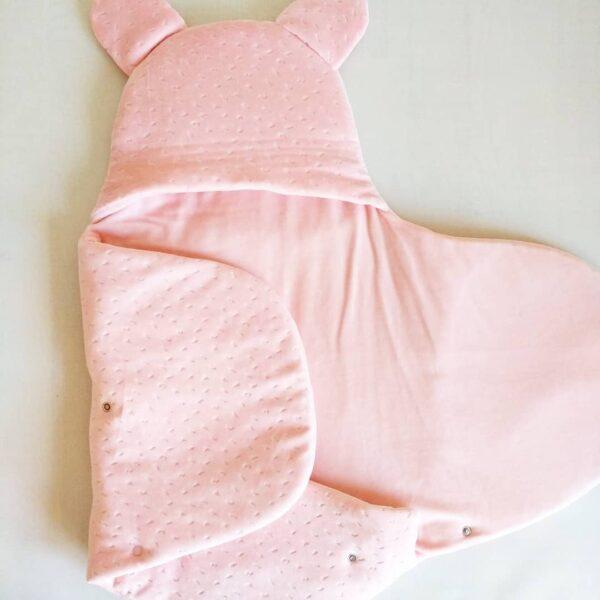 Kız Bebek Kışlık Peluş Kundak 0 6 ay 02 600x600 - Kız Bebek Çıtçıtlı Fluffy Kundak 0-6 ay
