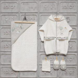 Bebitof Erkek Bebek Balonlu Bornoz Seti 01 300x300 - Bebitof Erkek Bebek Bulut Baskılı Bornoz Seti
