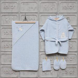Bebitof Erkek Bebek Tavşan Ailesi Bornoz Seti Mavi Kopya 03 300x300 - Bebitof Erkek Bebek Gezideki İkizler Bornoz Seti - Mavi