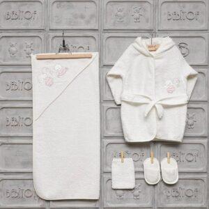 Bebitof Kız Bebek Ayıcık Bornoz Seti pembe Kopya 01 300x300 - Bebitof Kız Bebek Ayıcık Nakışlı Bornoz Seti - krem