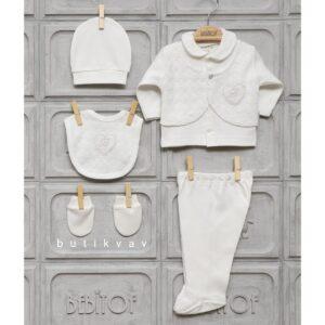 Bebitof Kız Bebek Bolerolu 5li Hastane Çıkışı Krem 01 300x300 - Bebitof Kız Bebek 5'li Hastane Çıkışı Krem