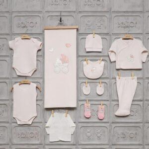 Bebitof Kız Bebek Dantel Süslemeli 10lu Hastane Çıkışı Krem 01 300x300 - Bebitof Kız Bebek Bebek Arabası İşlemeli 10'lu Hastane Çıkışı - Pembe