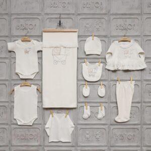 Bebitof Kız Bebek Dantel Süslemeli 10lu Hastane Çıkışı Krem 02 300x300 - Bebitof Kız Bebek Dantel Süslemeli 10'lu Hastane Çıkışı - Krem
