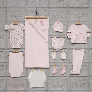 Bebitof Kız Bebek Kelebek Baskılı 10lu Hastane Çıkışı Pembe 02 300x300 - Bebitof Kız Bebek Kelebek Baskılı 10'lu Hastane Çıkışı - Pembe
