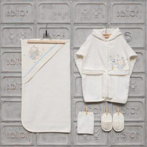 Bebitof Kız Bebek Dantelli Tavşan Bornoz Seti Krem Kopya 02 300x300 - Bebitof Erkek Bebek Uykucu Ayı Bornoz Seti