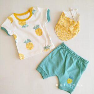 3 6 ay erkek bebek alt ust bere takim 3 lu set kopya 01 300x300 - 3-6 Ay Erkek Bebek Alt Üst Fular Takım 3'lü Set