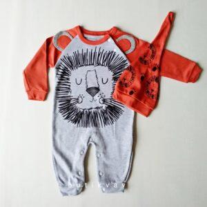 erkek bebek uykucu aslan tulum sapka seti 6 9 ay kopya 01 300x300 - Erkek Bebek Uykucu Aslan Tulum & Şapka Seti  3-6 Ay