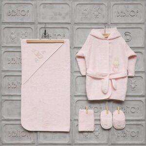 gaye bebe kiz bebek iyi uykular bornoz seti kopya 01 300x300 - Bebitof Kız Bebek Cafedeki Tavşan Bornoz Seti