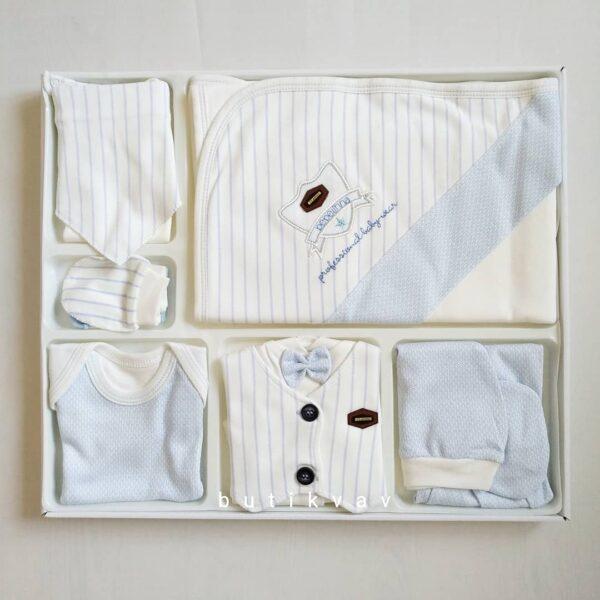 bebelinna erkek bebek arabali 10 lu hastane cikisi gri kopya 01 600x600 - Bebelinna Erkek Bebek 10'lu Hastane Çıkışı - Mavi