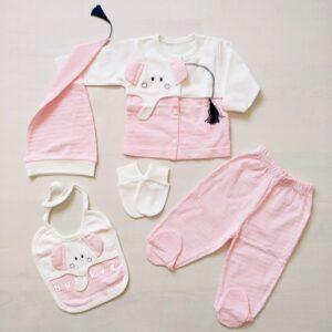 gaye bebe kuyruklu fil 5 li hastane cikisi zibin seti 01 300x300 - Gaye Bebe Kuyruklu Fil 5'li Hastane Çıkışı Zıbın Seti